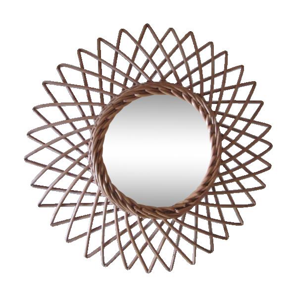 Miroir soleil rotin osier rotin et osier bois couleur for Miroir soleil osier