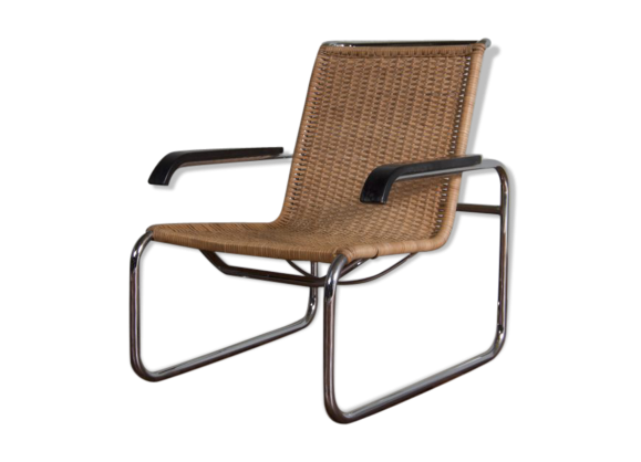 fauteuil design b35 marcel breuer rotin et osier. Black Bedroom Furniture Sets. Home Design Ideas