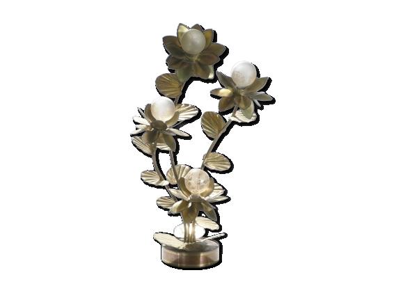 Lampe En Laiton Fleur De Motif En Laiton Fleur De Lampe Vintage Lampe
