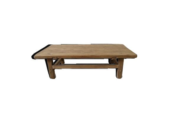 Table basse bois brut bois mat riau bois couleur - Table basse bois brut ...