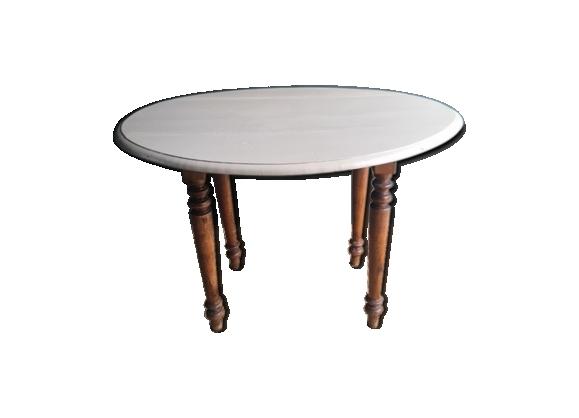 Table de ferme ancienne ovale