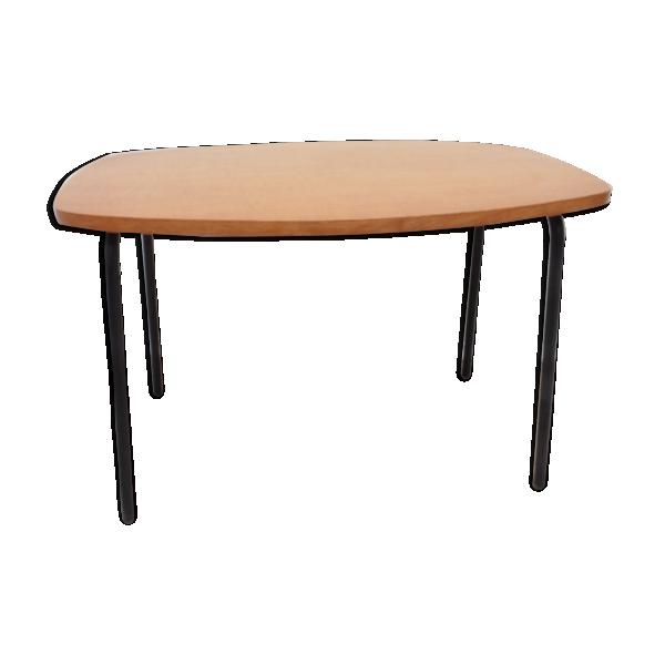 Petite table basse ann es 60 bois mat riau bois for Table cuisine annee 60