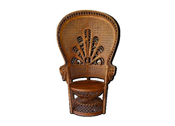 fauteuil emmanuelle rotin et osier bois couleur dans son jus vintage. Black Bedroom Furniture Sets. Home Design Ideas