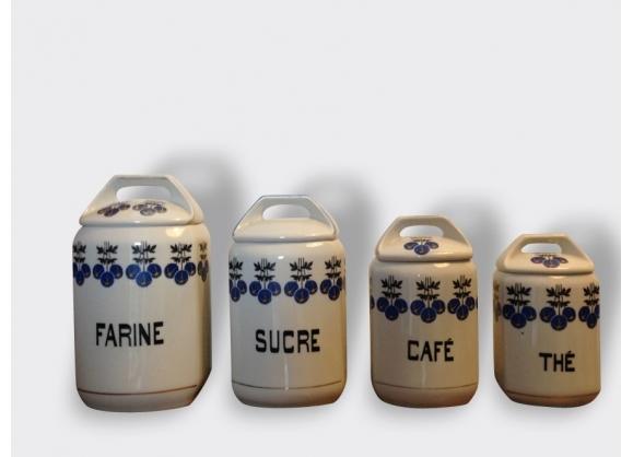Série de 4 pots à ''épices'