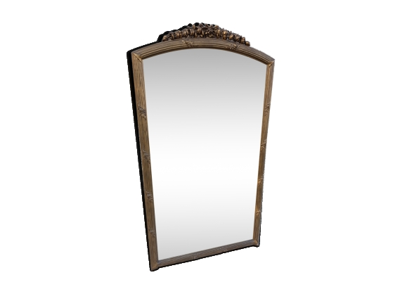 ancien miroir 149 x 81 cm biseaut dor d cor de fleurs et feuilles le fait main. Black Bedroom Furniture Sets. Home Design Ideas