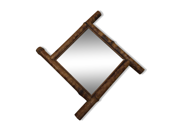 Miroir bambou bois mat riau bois couleur bon for Miroir bambou