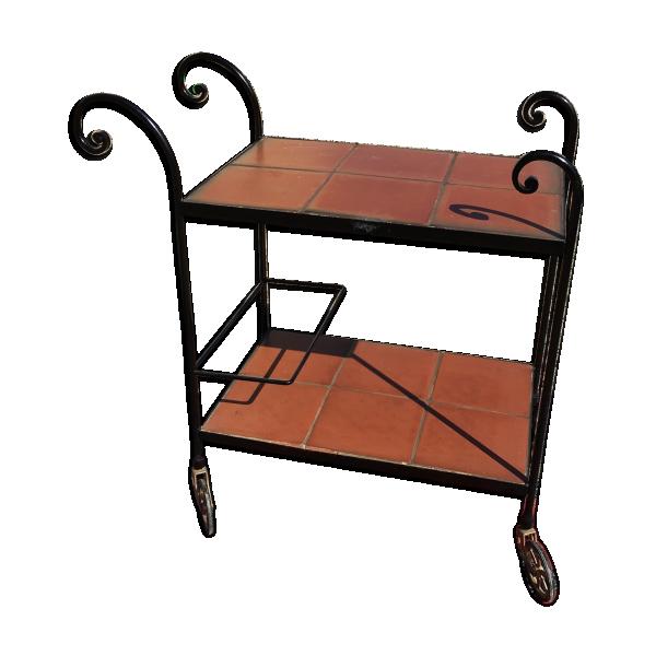 desserte en fer forg fer noir bon tat classique 909ba442ac0c3857b00febd132241d48. Black Bedroom Furniture Sets. Home Design Ideas