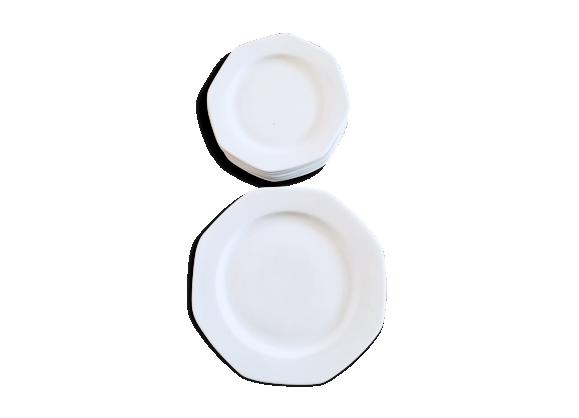 Assiettes plates en porcelaine blanche Winterling Bavaria