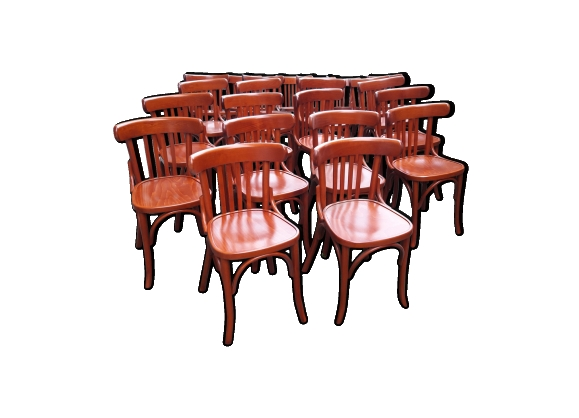 Lot de 22 chaises de bistrot