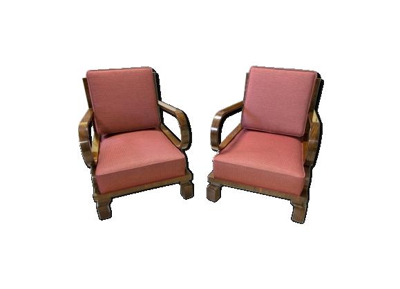 Paire de fauteuils art déco tchèque 1930s