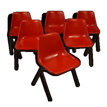 Suite de 6 chaises design Robin Day - 1960