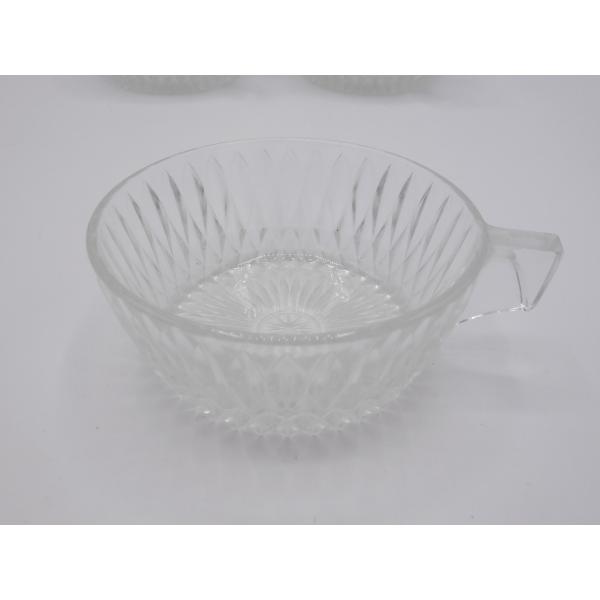 Lot de 5 tasses vintage verre et cristal transparent bon tat vintage - Console verre transparent ...