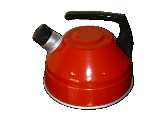 Bouilloire laquée rouge
