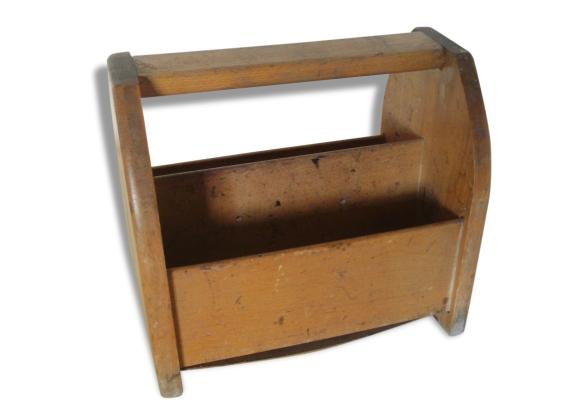 ancien n cessaire en bois chaussures boite cirage bois mat riau marron dans son. Black Bedroom Furniture Sets. Home Design Ideas