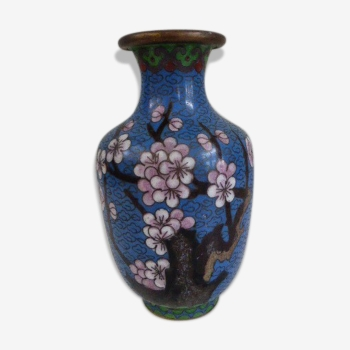 Vase cloisonnée du Japon