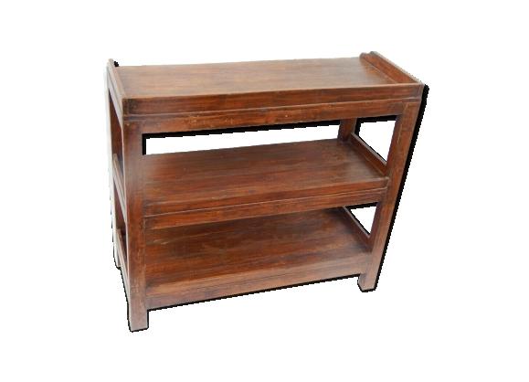 Etagere basse meuble vieux teck