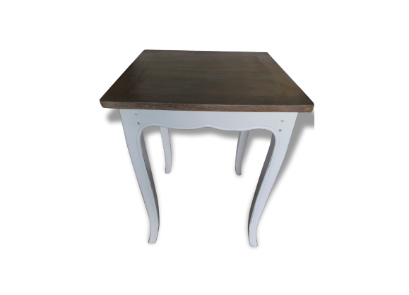 table console ancienne bois mat riau blanc bon tat classique 133580. Black Bedroom Furniture Sets. Home Design Ideas