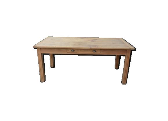 grande table de ferme bois mat riau bois couleur bon tat classique. Black Bedroom Furniture Sets. Home Design Ideas