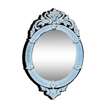 miroir en verre ou cristal vintage d 39 occasion. Black Bedroom Furniture Sets. Home Design Ideas