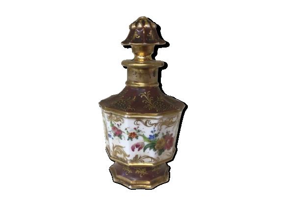 Carafon ancien porcelaine décoré à la main.