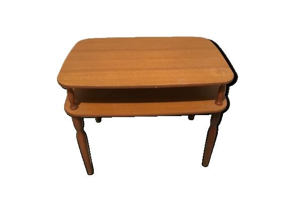 Table double plateaux