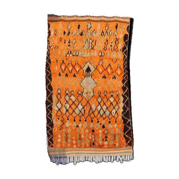 Azilal Vintage Morocan Tapis Berber Mid Century Moderne