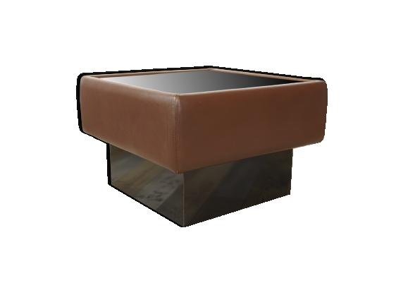 Table basse De Sede modèle DS19/93 en cuir et verre