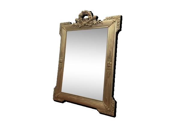 Miroir de style Louis XVI en bois et stuc 118x82cm