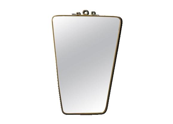 miroir italien en cuivre
