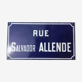 Plaque vintage d 39 occasion enseigne d 39 occasion lettre for Rue salvador allende poitiers