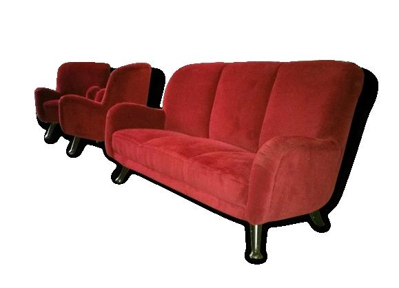 Set Canapé et fauteuils années 50 60
