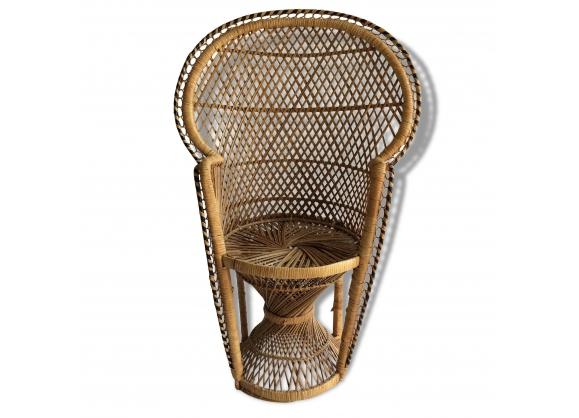 Superbe fauteuil en rotin style emmanuelle boheme enfant