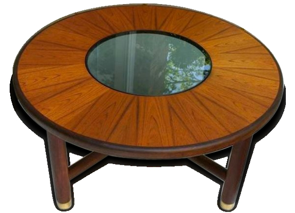 Table ronde teck - Table basse scandinave ronde ...