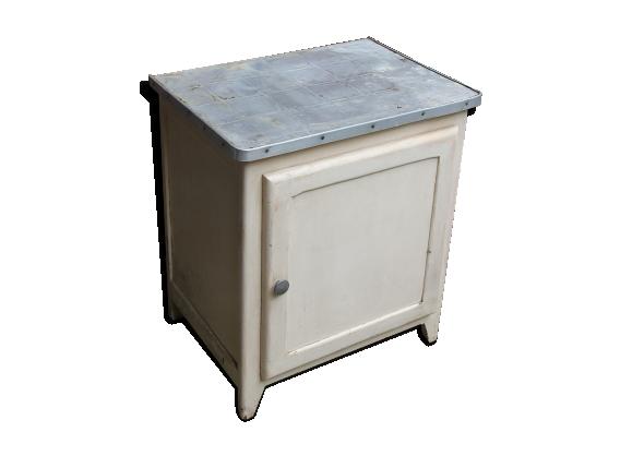 Meuble bois blanc beige