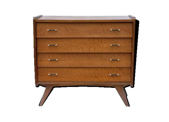 commode ann e 50 60 bois mat riau marron bon tat vintage. Black Bedroom Furniture Sets. Home Design Ideas
