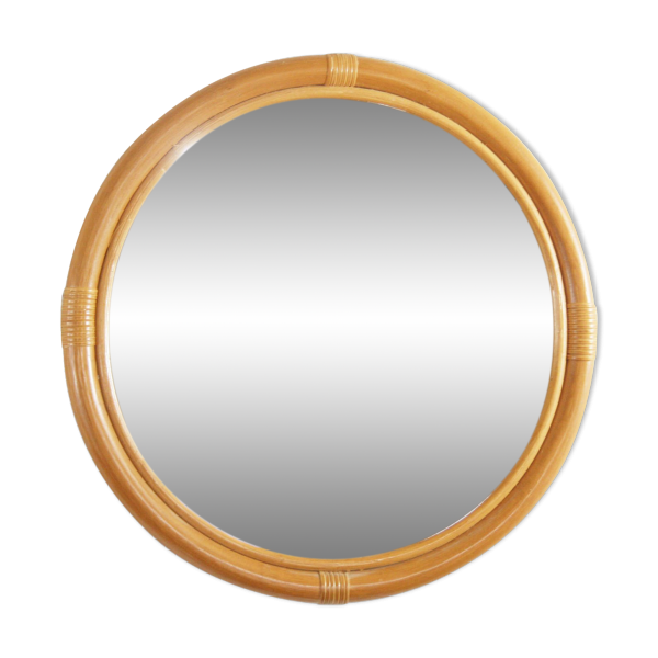 Miroir en rotin rotin et osier bois couleur dans for Miroir en osier