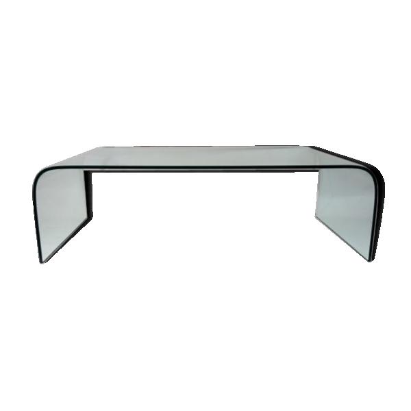 Table basse cascade par angelo cortesi pour fiam italia verre et cristal - Tabouret bar transparent ...