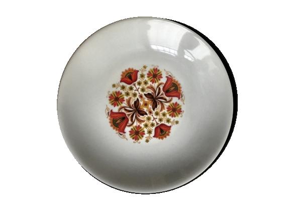 Set de 6 assiettes creuses en porcelaine du vercore Rosace