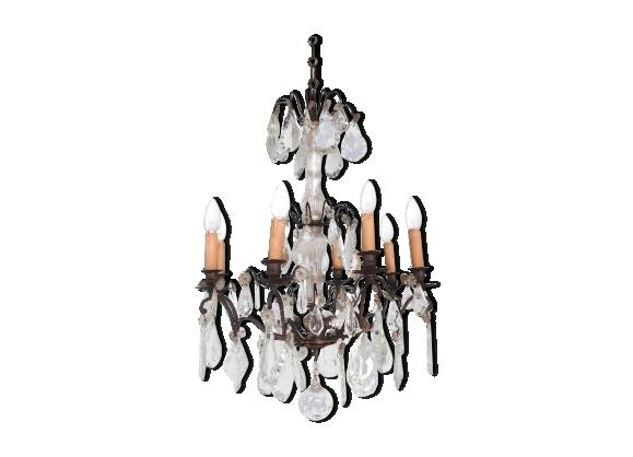 lustre bronze pampilles. Black Bedroom Furniture Sets. Home Design Ideas