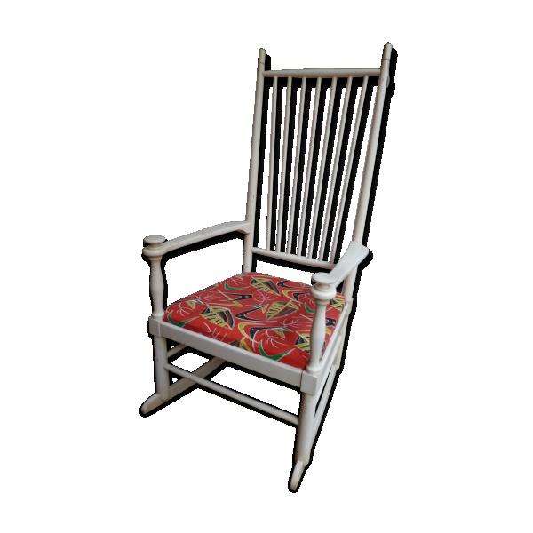 rocking chair isabella design de karl axel adolfsson bois mat riau blanc dans son jus. Black Bedroom Furniture Sets. Home Design Ideas