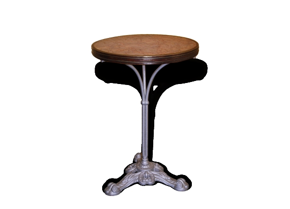table gu ridon de bistrot en fonte et dessus marbre le fait main. Black Bedroom Furniture Sets. Home Design Ideas