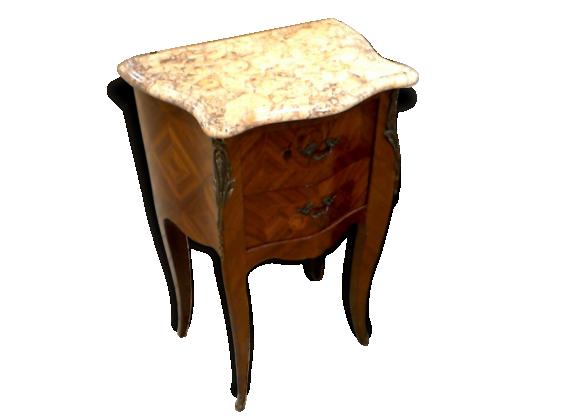 table de chevet louis xv bois de rose