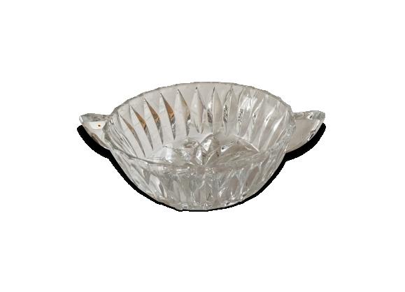 Coupe (saladier) en verre ciselé