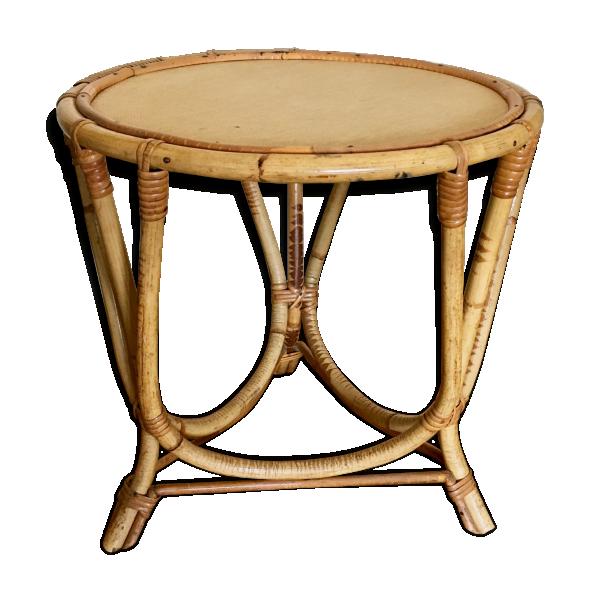 table enfant en bambou et osier rotin et osier bois couleur bon tat vintage. Black Bedroom Furniture Sets. Home Design Ideas