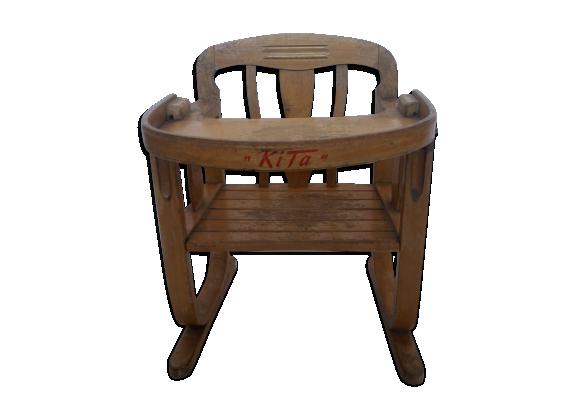 petite chaise en bois bois mat riau marron dans son jus vintage. Black Bedroom Furniture Sets. Home Design Ideas