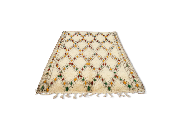 tapis beni ouarain vintage des ann es 1970 tissu blanc bon tat vintage. Black Bedroom Furniture Sets. Home Design Ideas
