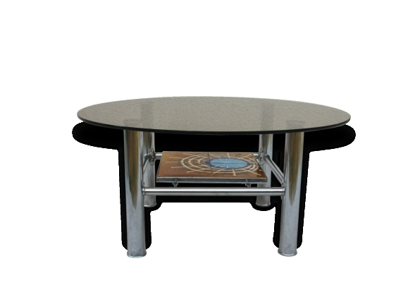 Table pied chrom - Table basse pied chrome ...