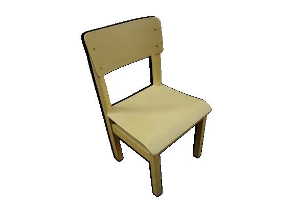 Chaise jaune bistro enfant vintage