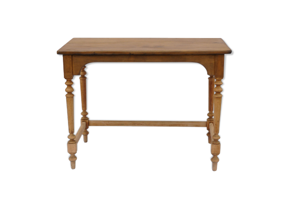 console ancienne en bois massif bois mat riau marron bon tat classique. Black Bedroom Furniture Sets. Home Design Ideas