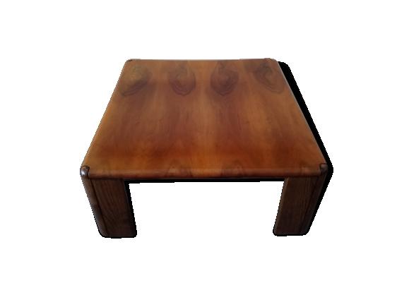 Table basse carrée en bois des années 70